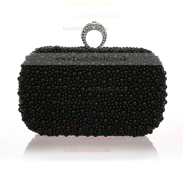 Black Pearl Wedding Crystal/ Rhinestone Handbags #LDB03160292