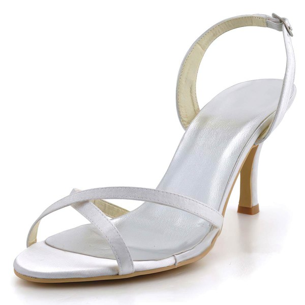 Women's Satin with Buckle Stiletto Heel Pumps Sandals #LDB03030007