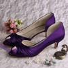 Women's Satin with Bowknot Kitten Heel Pumps Peep Toe #LDB03030080
