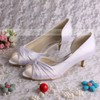 Women's Satin with Bowknot Kitten Heel Pumps Peep Toe #LDB03030080