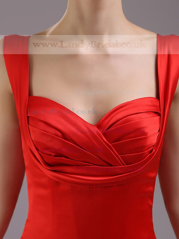 Burgundy Satin Tulle Trumpet/Mermaid Ruffles Sweetheart Cheap Prom Dresses #LDB02023222