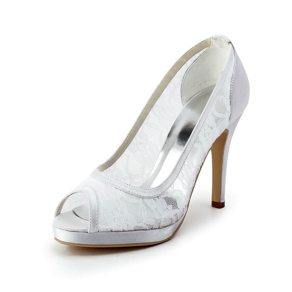 Women's Lace   Stiletto Heel Pumps Peep Toe Platform
