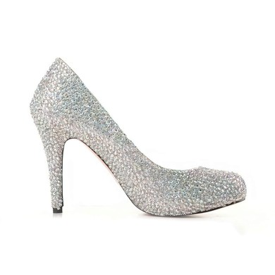 Women's Multi-color Suede Pumps/Closed Toe with Crystal #LDB03030195