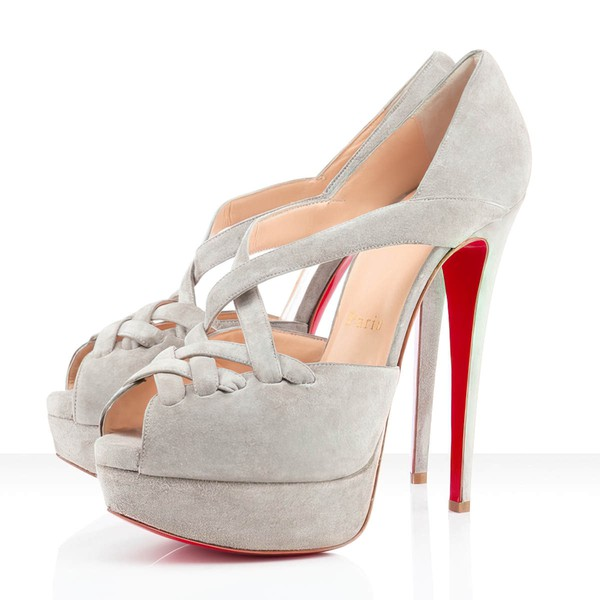 Women's White Suede Platform/Peep Toe/Pumps #LDB03030200