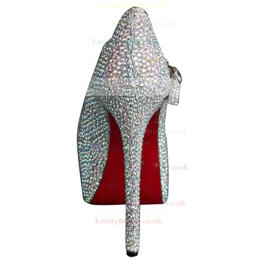 Women's Multi-color Suede Platform/Closed Toe/Pumps with Crystal #LDB03030201