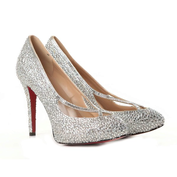 Women's Multi-color Suede Pumps/Closed Toe with Crystal #LDB03030207