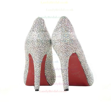 Women's Multi-color Suede Pumps/Closed Toe with Crystal #LDB03030208