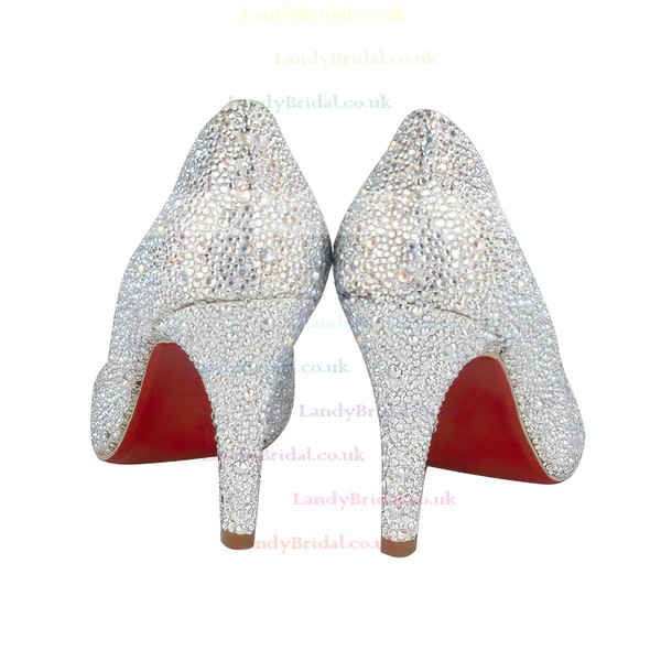 Women's Multi-color Suede Closed Toe/Pumps with Crystal