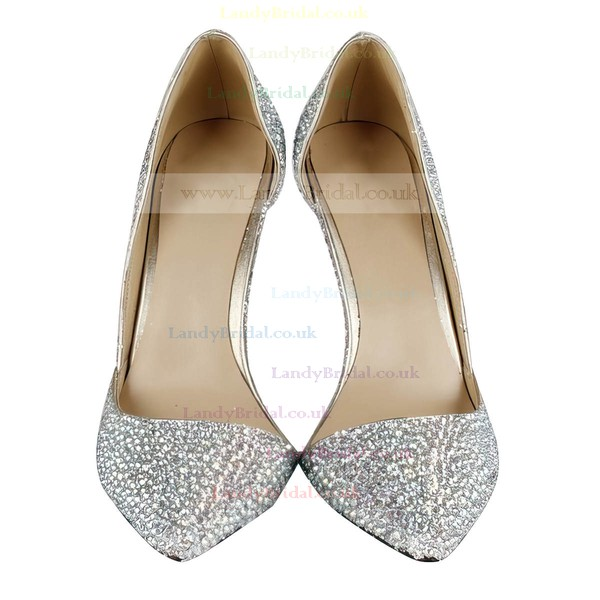 Women's Multi-color Suede Closed Toe/Pumps with Crystal Heel/Crystal
