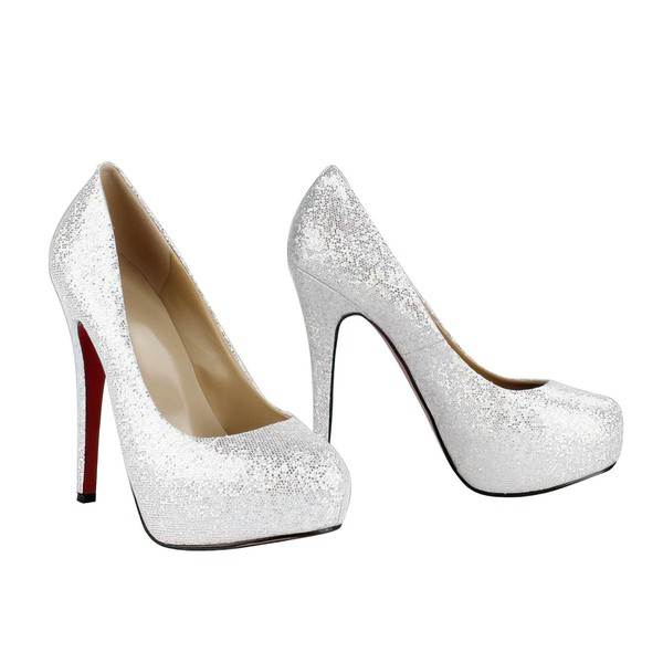 Women's Multi-color Suede Platform/Pumps with Sparkling Glitter