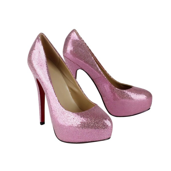 Women's Fuchsia Sparkling Glitter Platform/Pumps with Sparkling Glitter #LDB03030217