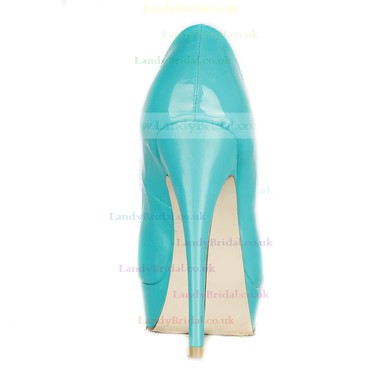 Women's Green Patent Leather Pumps/Peep Toe/Platform #LDB03030225