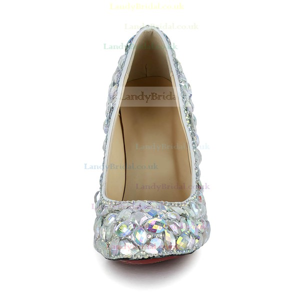 Women's Multi-color Patent Leather Pumps/Closed Toe with Crystal/Crystal Heel