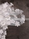 One-tier Ivory Cathedral Bridal Veils with Rhinestones/Satin Flower #LDB03010079