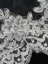 Two-tier White/Ivory Elbow Bridal Veils with Applique #LDB03010089
