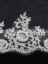 One-tier White/Ivory Cathedral Bridal Veils with Applique #LDB03010090