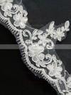 Three-tier Ivory Fingertip Bridal Veils with Applique #LDB03010096