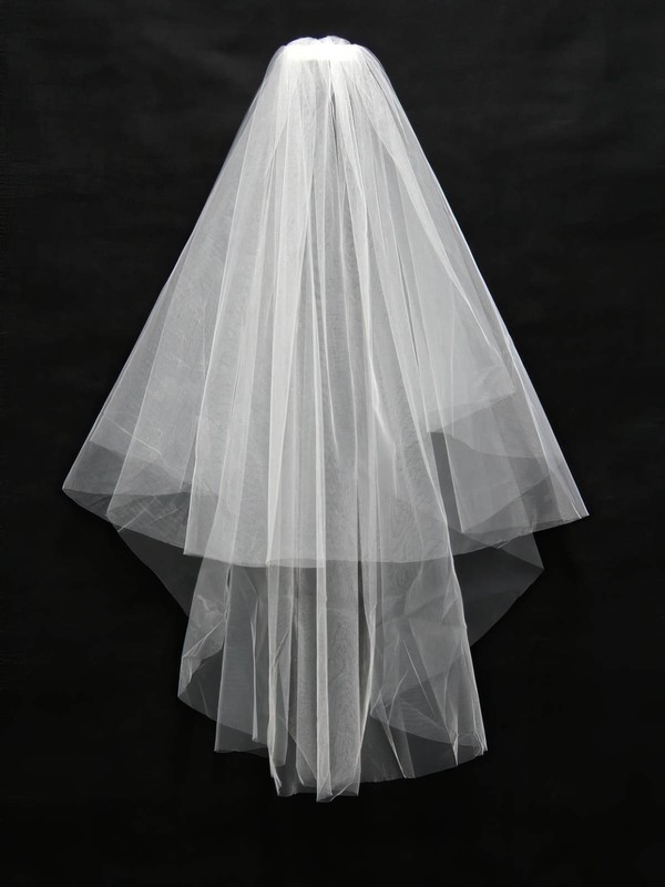 Two-tier White/Ivory Elbow Bridal Veils #LDB03010100