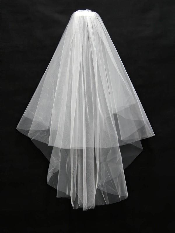 Two-tier White/Ivory Elbow Bridal Veils
