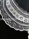 One-tier White/Ivory Waltz Bridal Veils with Lace #LDB03010103
