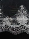 One-tier White/Ivory Chapel Bridal Veils with Sequin #LDB03010107