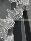 One-tier White Chapel Bridal Veils with Applique #LDB03010108