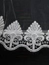One-tier White/Ivory Chapel Bridal Veils with Beading #LDB03010120