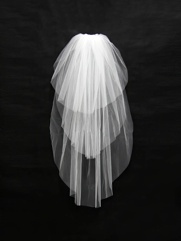 Three-tier White/Ivory Waltz Bridal Veils