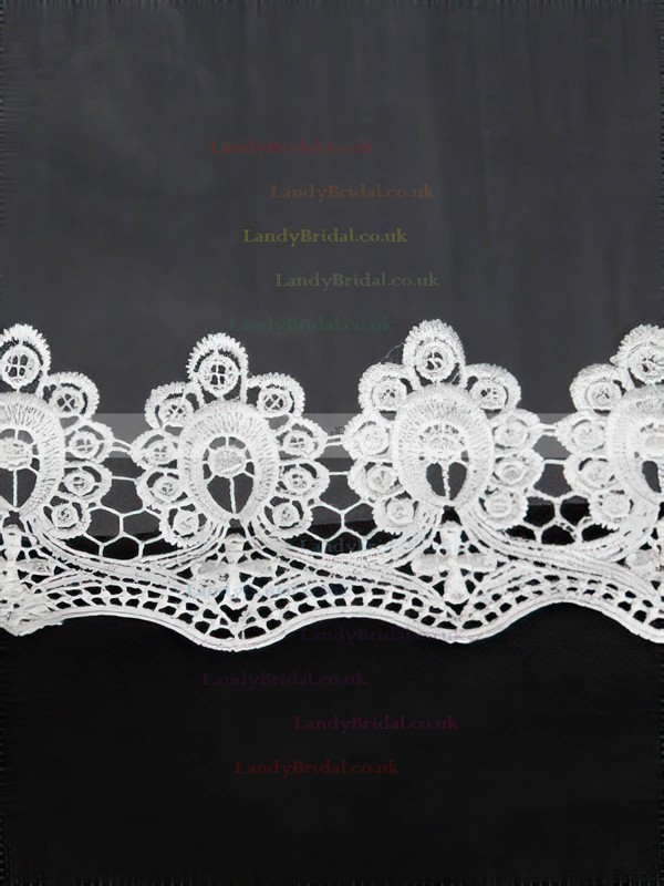 Four-tier White/Ivory Chapel Bridal Veils with Applique