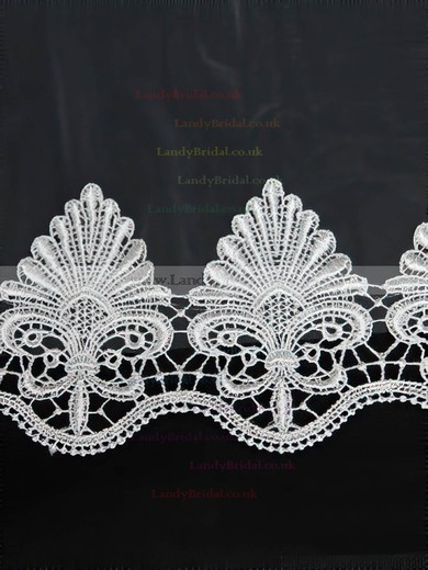 Four-tier White/Ivory Chapel Bridal Veils with Applique #LDB03010152