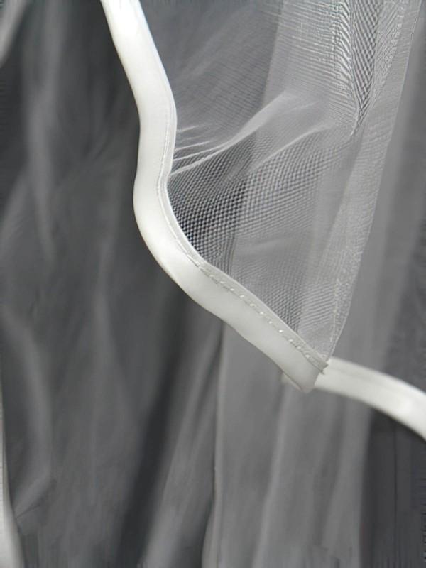 Four-tier White/Ivory Elbow Bridal Veils with Bone Binding
