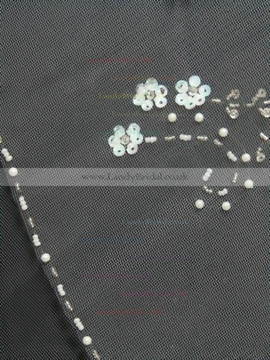 Two-tier White/Ivory Elbow Bridal Veils with Beading/Sequin #LDB03010166