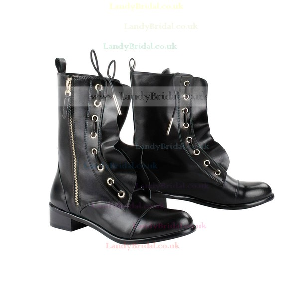 Women's Black Nubuck Closed Toe with Zipper