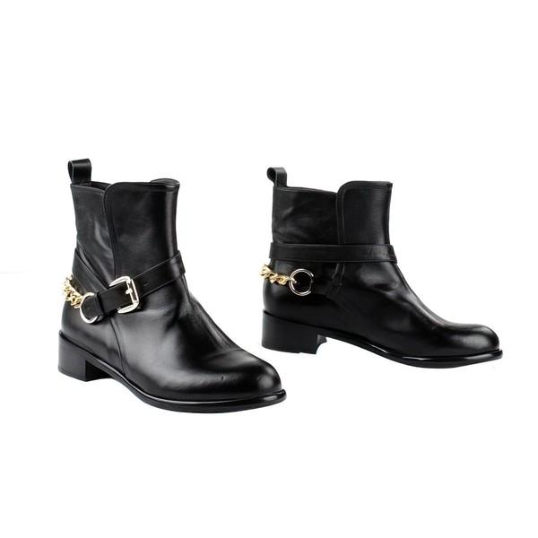 Women's Black Nubuck Closed Toe with Chain #LDB03030270