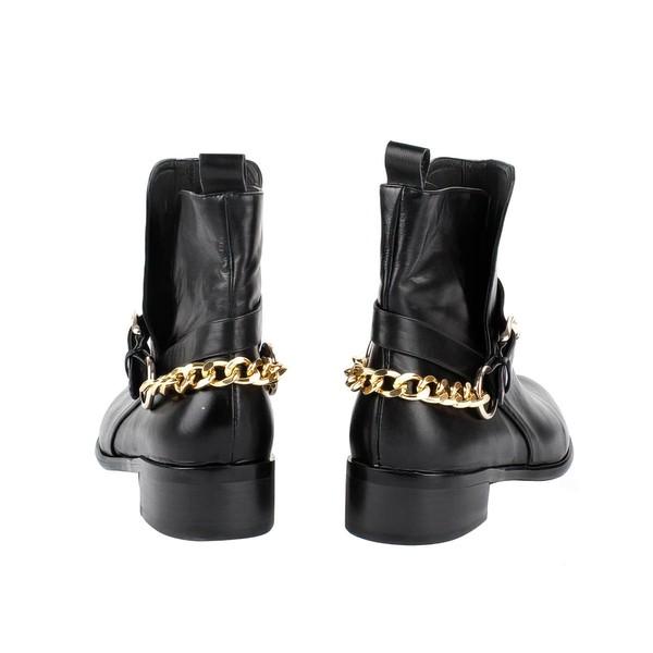 Women's Black Nubuck Closed Toe with Chain
