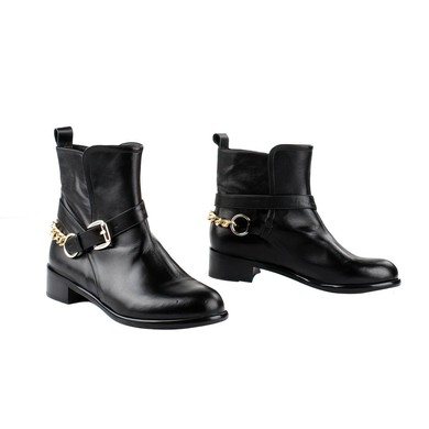 Women's Black Nubuck Closed Toe with Chain #LDB03030270