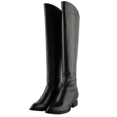 Women's Black Nubuck Closed Toe with Zipper #LDB03030276