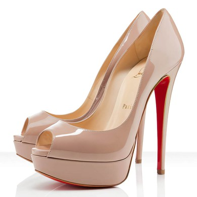 Women's Apricot Patent Leather Pumps #LDB03030289