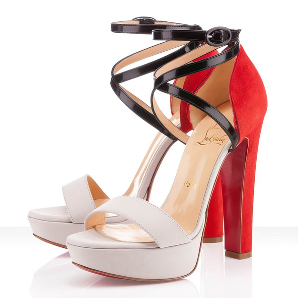 Women's White Suede Pumps with Buckle #LDB03030290