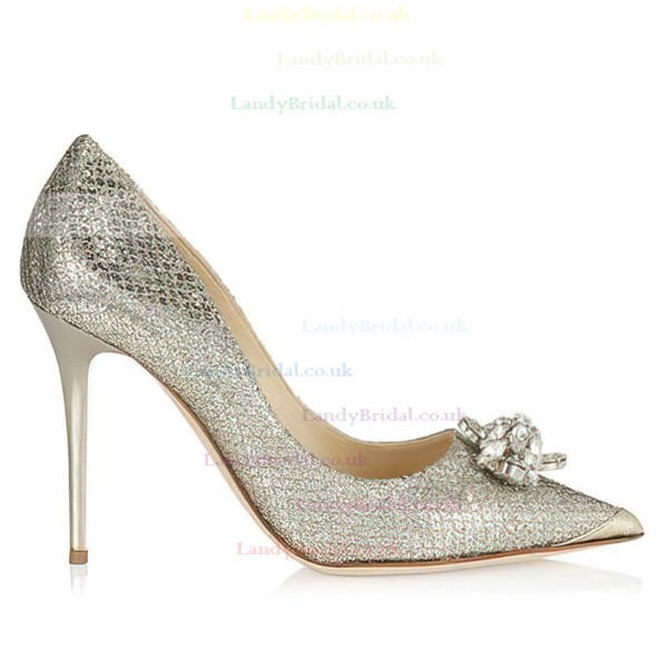 Women's Multi-color Sparkling Glitter Closed Toe with Rhinestone