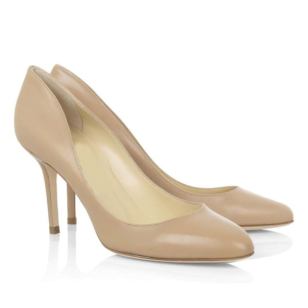 Women's Brown Patent Leather Closed Toe