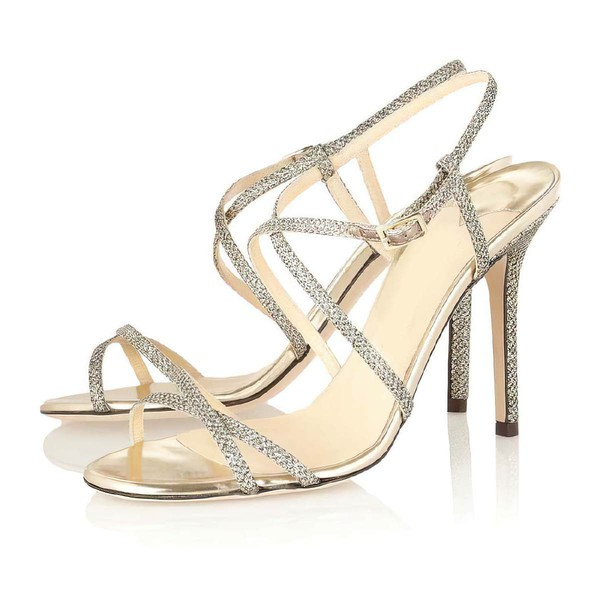 Women's Multi-color Sparkling Glitter Pumps with Buckle