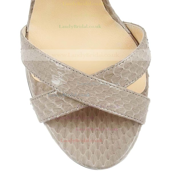 Women's Coffee Sparkling Glitter Pumps with Buckle