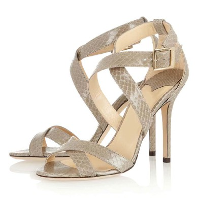 Women's Coffee Sparkling Glitter Pumps with Buckle #LDB03030337