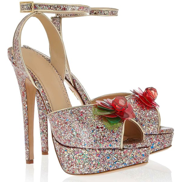 Women's Multi-color Sparkling Glitter Pumps with Rhinestone/Buckle/Flower #LDB03030345