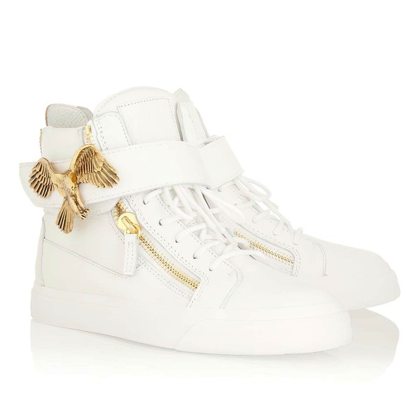 Women's White Real Leather Closed Toe with Zipper