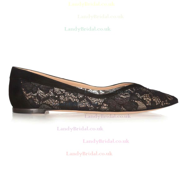 Women's Black Lace Closed Toe