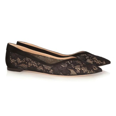 Women's Black Lace Closed Toe #LDB03030355