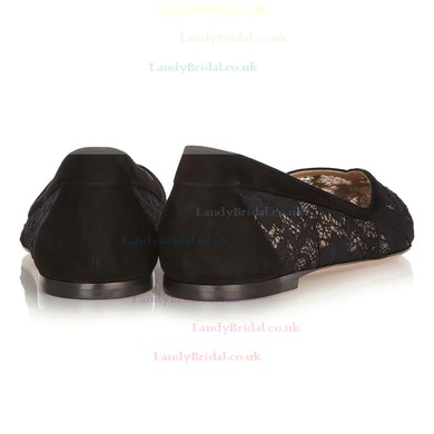 Women's Black Lace Closed Toe #LDB03030355
