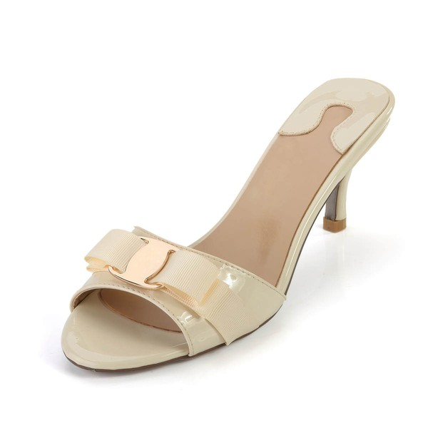 Women's  Patent Leather Pumps with Buckle